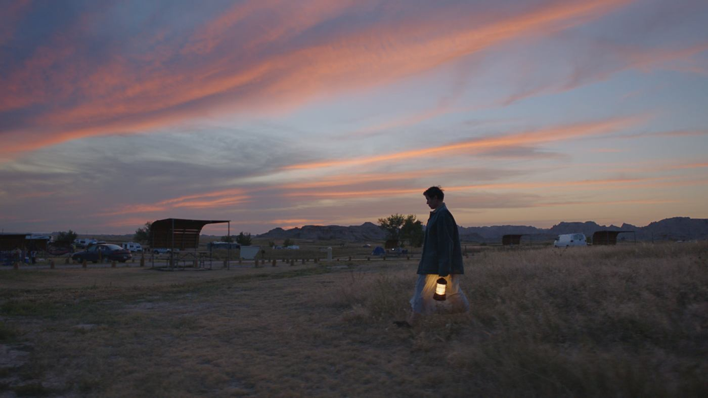 woman walking through the valley alone